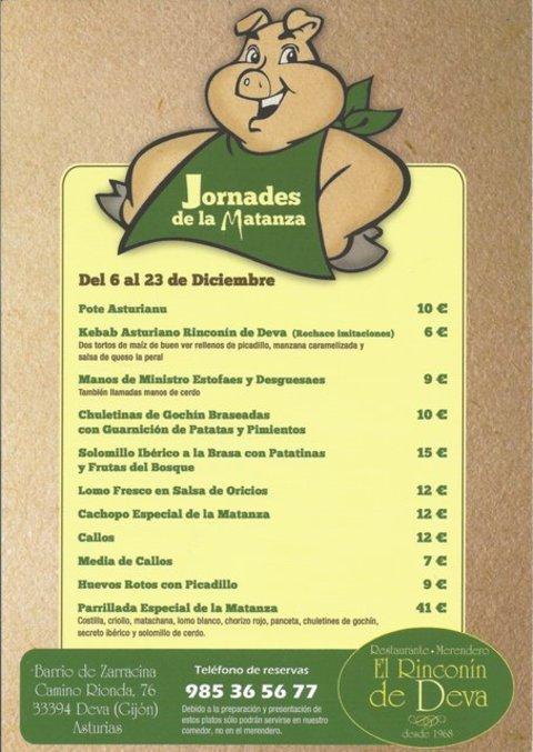Rinconin de Deva - JORNADAS DE LA MATANZA - El Rinconín de Deva